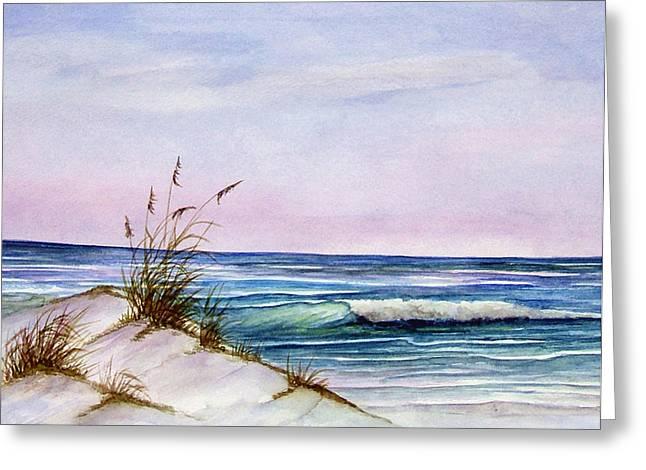 Okaloosa Beach Greeting Card by Rosie Brown