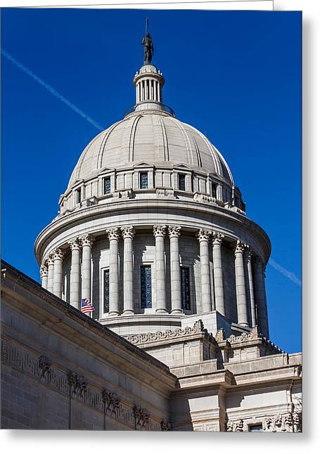 Oklahoma State Capitol Dome Greeting Card by Doug Long