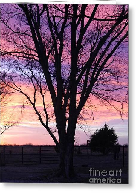 Oklahoma Sunset 2 Greeting Card