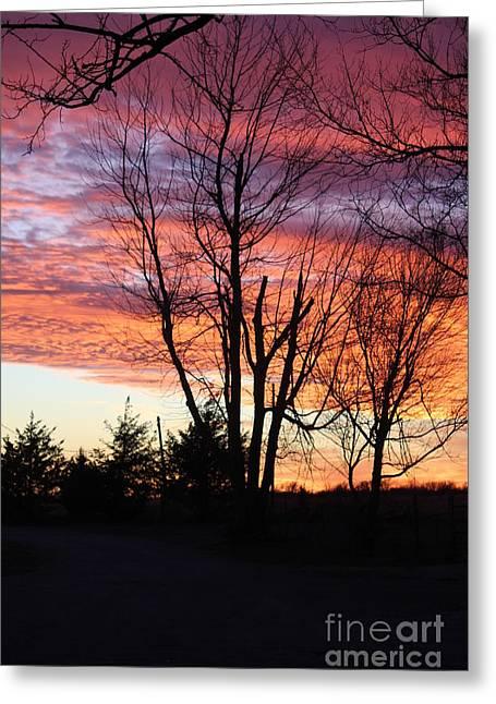 Oklahoma Sunset 3 Greeting Card