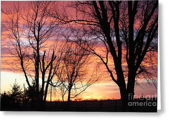 Oklahoma Sunset Greeting Card
