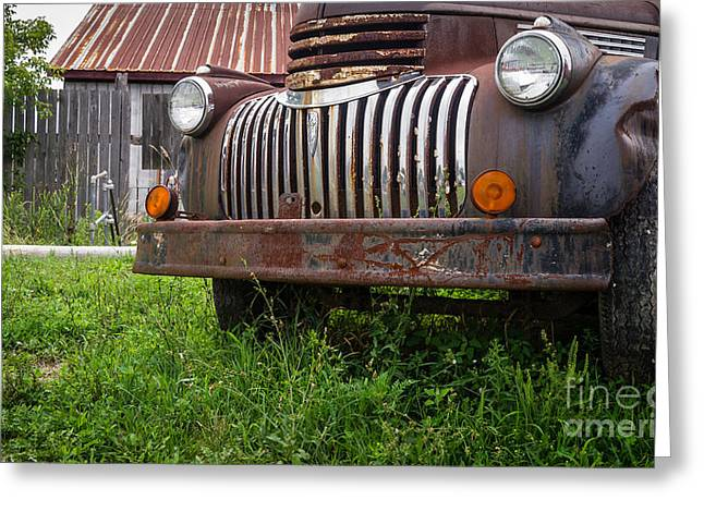 Old Abandoned Pickup Truck Greeting Card by Edward Fielding