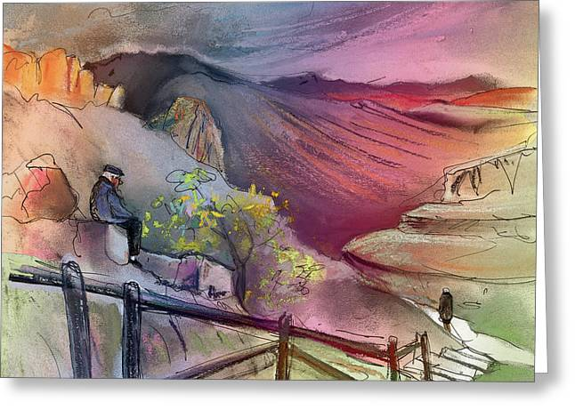 Old And Lonely In Spain 04 Greeting Card by Miki De Goodaboom