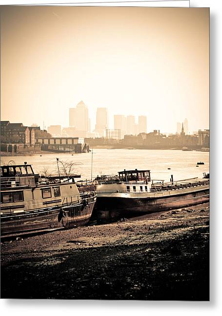 Greeting Card featuring the photograph Old And New London Town by Lenny Carter