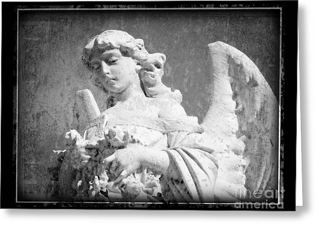 Greeting Card featuring the photograph Old Angel by Jeanne  Woods