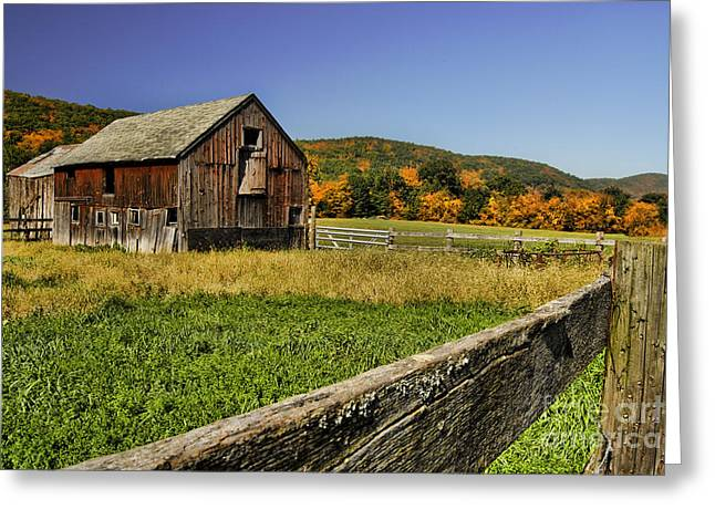 Old Barn In Connecticut Greeting Card