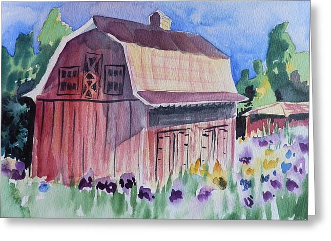 Old Barn In Payson Greeting Card