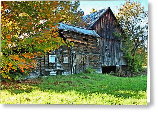 Old Barn In Vermont Greeting Card