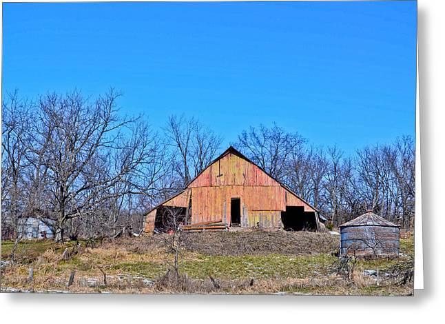 Old Barn Greeting Card by Julio n Brenda JnB