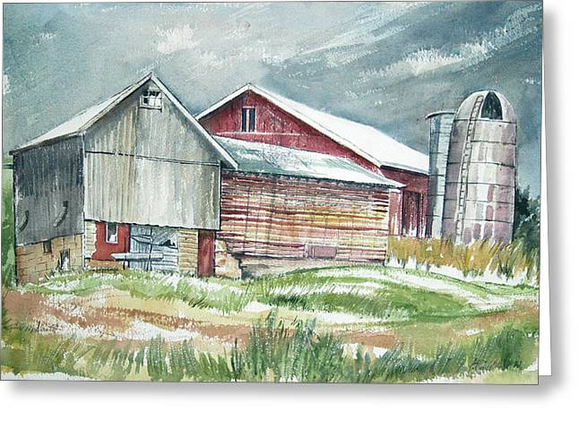 Old Barn Greeting Card by Rose McIlrath