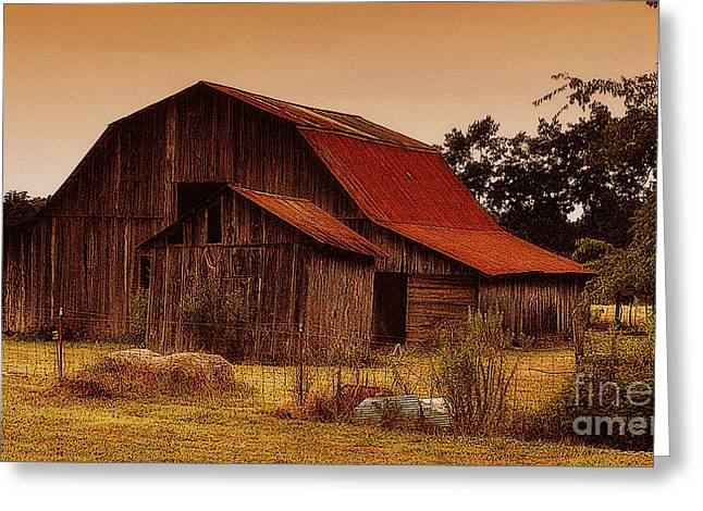 Greeting Card featuring the photograph Old Barn by Lydia Holly