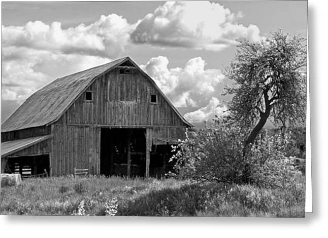 Old Barn Panorama Greeting Card