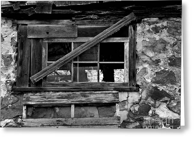Old Barn Window Greeting Card by Perry Webster