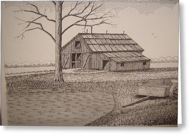 Old Barn2 Greeting Card by William Deering
