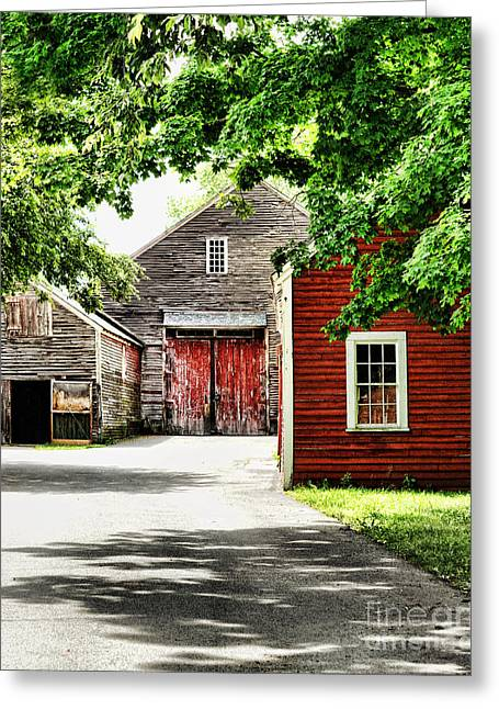 Old Barns Greeting Card by HD Connelly