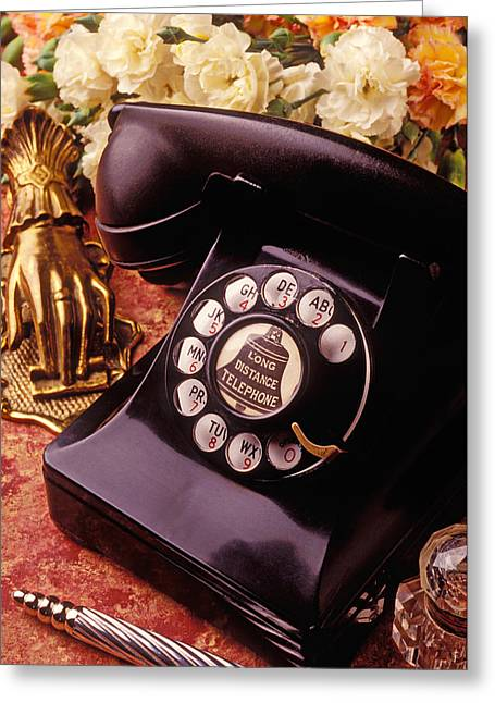 Old Bell Telephone Greeting Card by Garry Gay
