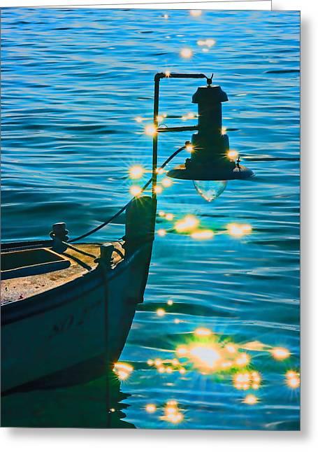 Old Boat Greeting Card by Darko Vrbica