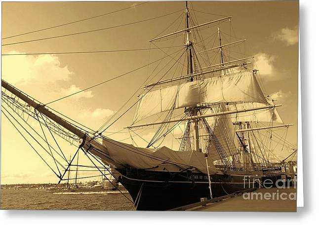 Greeting Card featuring the photograph Old Boat by Jasna Gopic