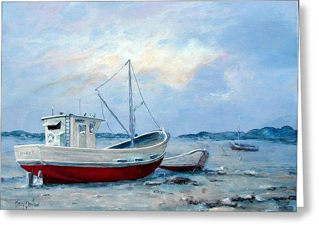 Old Boats On Shore Greeting Card by Gary Partin