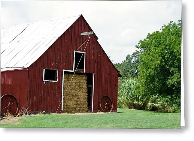 Old Bonham Barn II Greeting Card by Lisa Moore