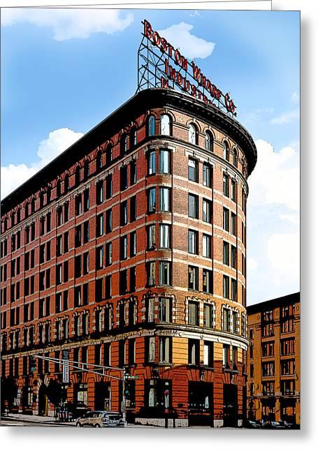 Old Boston Wharf Company  Greeting Card by Michelle Wiarda