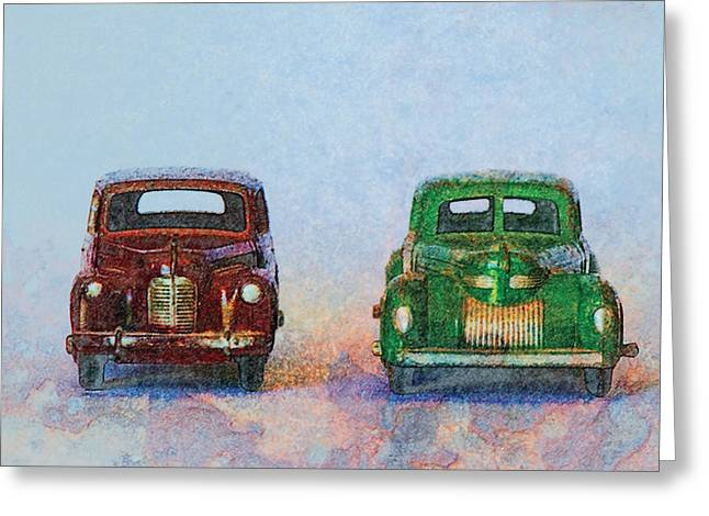 Old Boy Toys Greeting Card by Perry Van Munster