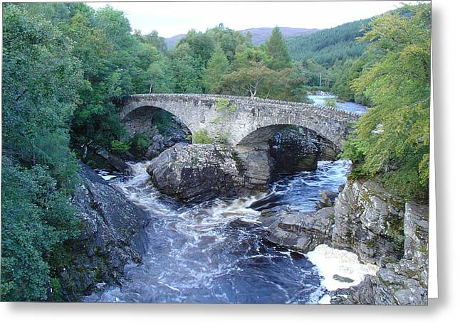 Old Bridge At Invermoriston Greeting Card