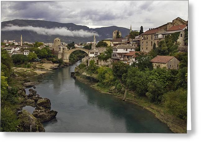 Old Bridge Of Mostar Greeting Card by Ayhan Altun