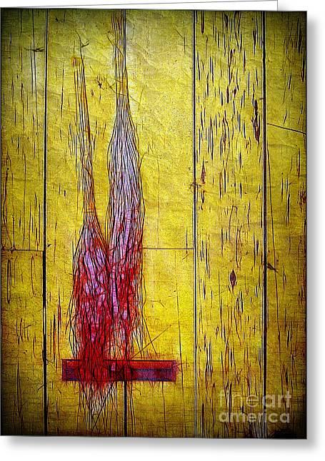 Old Brooms Greeting Card by Judi Bagwell