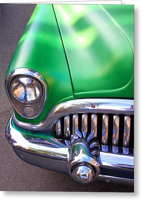 Old Buick Details Greeting Card by Valentino Visentini