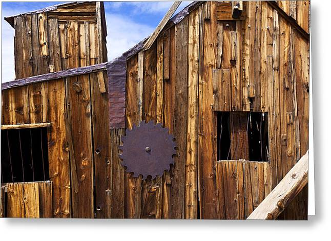Old Building Bodie Ghost Town Greeting Card
