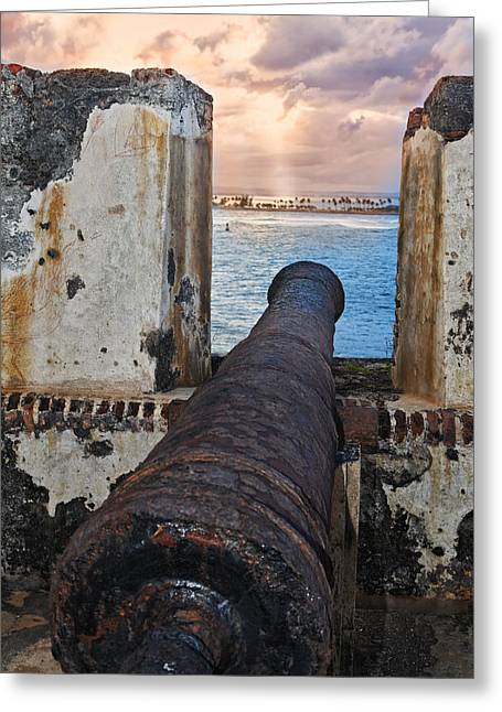 Old Cannon Overlooking San Juan Bay Greeting Card