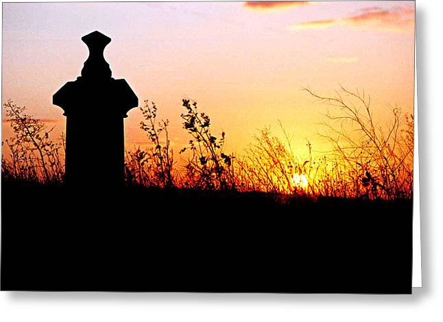 Old Cemetary In A Farm Field Greeting Card by Kimberleigh Ladd