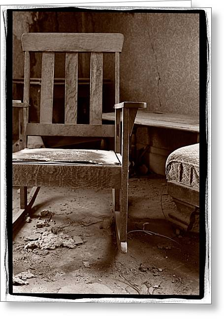 Old Chair Bodie California Greeting Card by Steve Gadomski