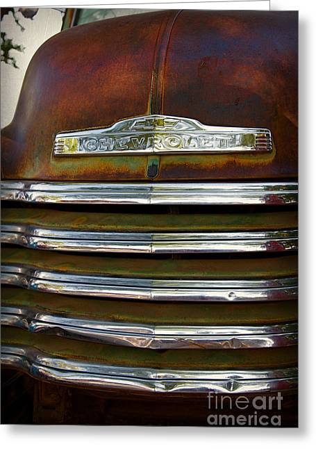 Old Chevrolet Front Grille Greeting Card by ELITE IMAGE photography By Chad McDermott