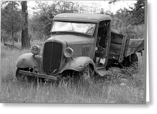 Old Chevy Truck Greeting Card by Steve McKinzie