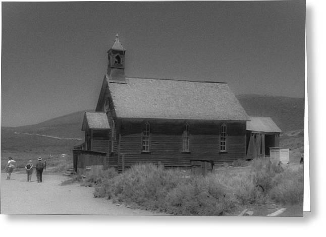Old Church Greeting Card by Richard Balison