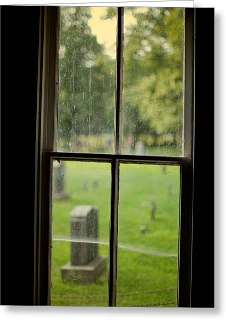 Old Church Window Greeting Card by James Massey