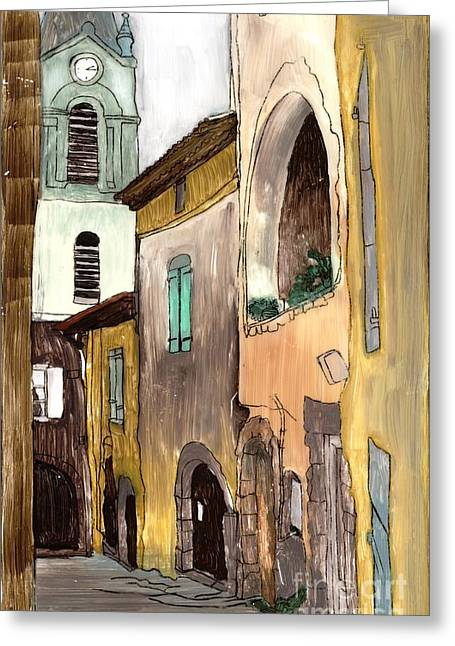 Old City Greeting Card by Annemeet Hasidi- van der Leij