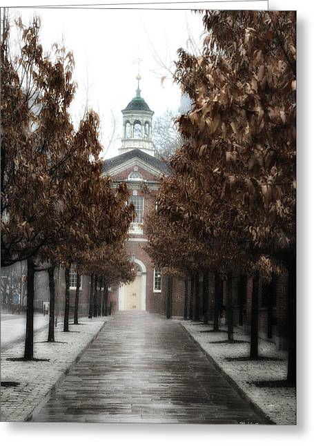 Old City Hall Philadelphia Greeting Card by Bill Cannon