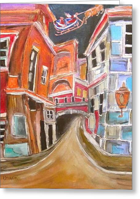 Old City Greeting Card by Michael Litvack