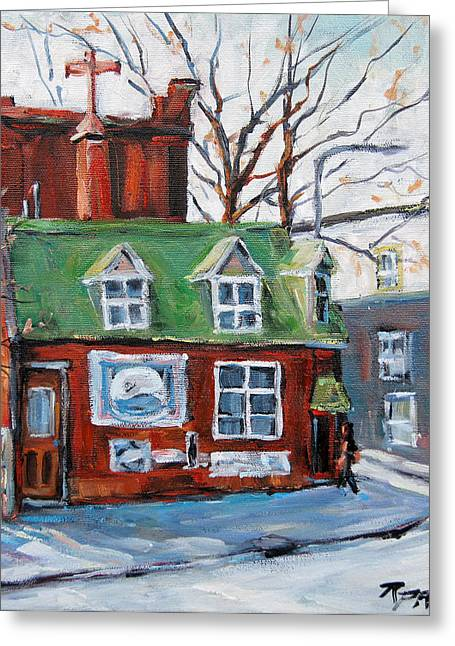 Old Corner Store Montreal By Prankearts Greeting Card by Richard T Pranke