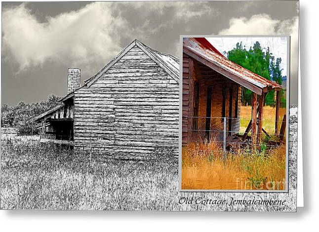 Old Cottage Diptych 2 Greeting Card