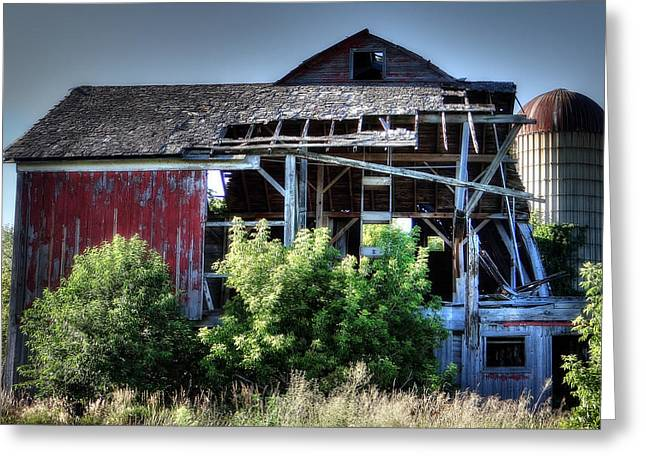 Old Country Barn Greeting Card by Michael Wilcox