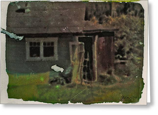 Old Cove Cottage  Greeting Card by Janet Kearns