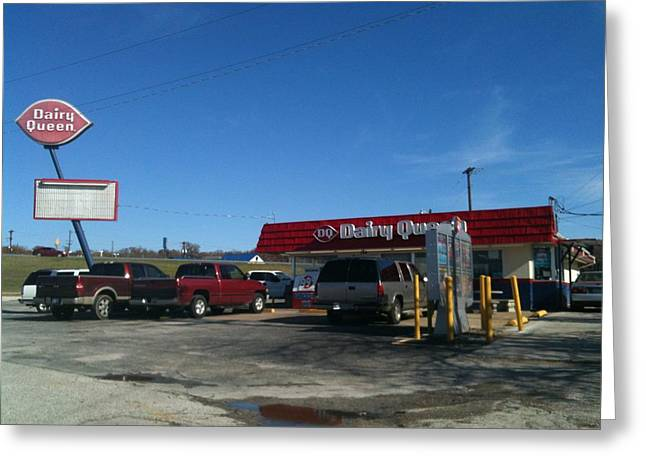 Old Dairy Queen In Azle Texas Greeting Card by Shawn Hughes