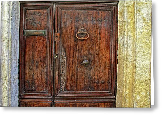 Greeting Card featuring the photograph Old Door Study Provence France by Dave Mills