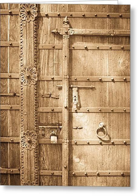 Old Door Greeting Card by Tom Gowanlock