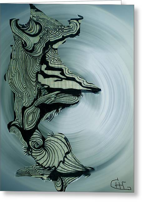 Old Drawing Called Serenity 2   Greeting Card by Colette V Hera  Guggenheim
