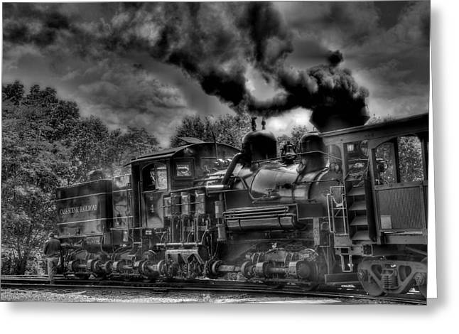 Old Engine Greeting Card